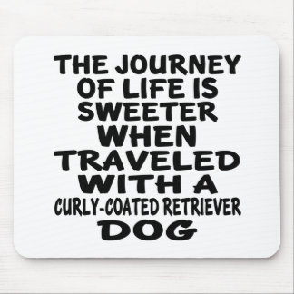 Traveled With A Curly-Coated Retriever Life Partne Mouse Pad
