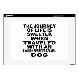 """Traveled With A English Springer Spaniel Life Part 15"""" Laptop Decal"""