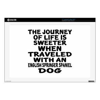 """Traveled With A English Springer Spaniel Life Part 17"""" Laptop Skins"""