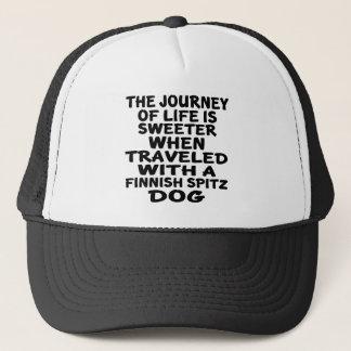 Traveled With A Finnish Spitz Life Partner Trucker Hat