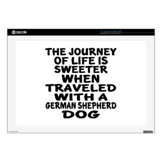 Traveled With A German Shepherd Life Partner Decals For Laptops
