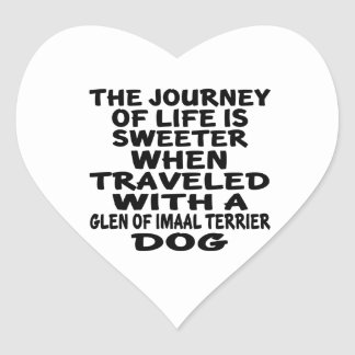 Traveled With A Glen of Imaal Terrier Life Partner Heart Sticker