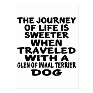 Traveled With A Glen of Imaal Terrier Life Partner Postcard