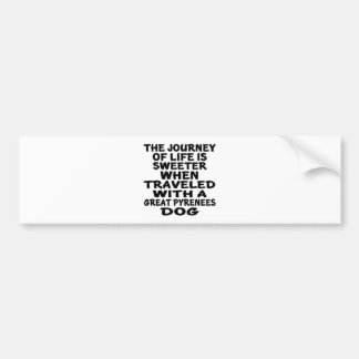 Traveled With A Great Pyrenees Life Partner Bumper Sticker