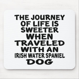 Traveled With A Irish Water Spaniel Life Partner Mouse Pad