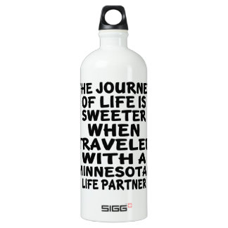 Traveled With A Minnesotan Life Partner Water Bottle