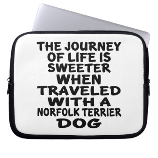 Traveled With A Norfolk Terrier Life Partner Laptop Sleeve