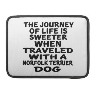 Traveled With A Norfolk Terrier Life Partner Sleeve For MacBook Pro