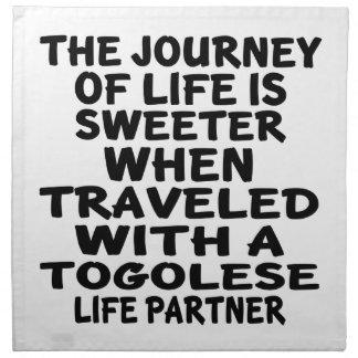 Traveled With A Togolese Life Partner Cloth Napkin