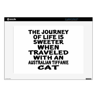 McTiffany Tiffany Aqua Traveled With Australian Tiffanie Cat Decal For Laptop