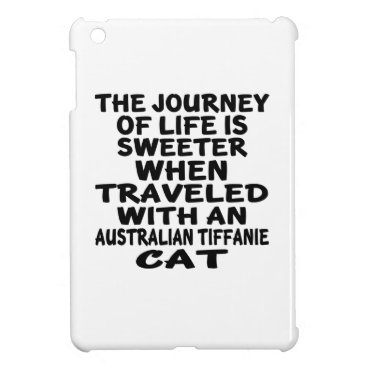 McTiffany Tiffany Aqua Traveled With Australian Tiffanie Cat iPad Mini Cases