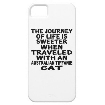 McTiffany Tiffany Aqua Traveled With Australian Tiffanie Cat iPhone SE/5/5s Case