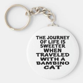 Traveled With Bambino  Cat Keychain