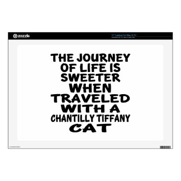 "McTiffany Tiffany Aqua Traveled With Chantilly Tiffany Cat Decal For 17"" Laptop"