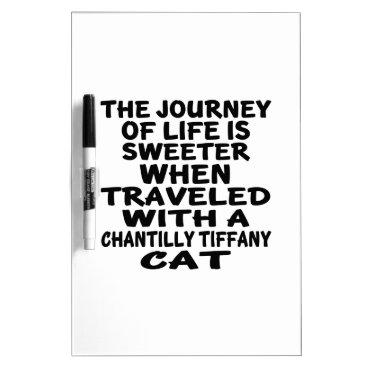 McTiffany Tiffany Aqua Traveled With Chantilly Tiffany Cat Dry Erase Board