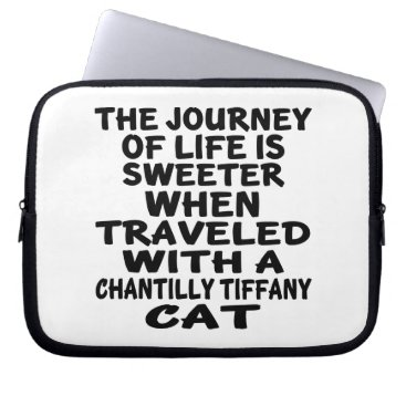 McTiffany Tiffany Aqua Traveled With Chantilly Tiffany Cat Laptop Sleeve