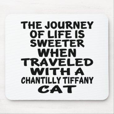 McTiffany Tiffany Aqua Traveled With Chantilly Tiffany Cat Mouse Pad