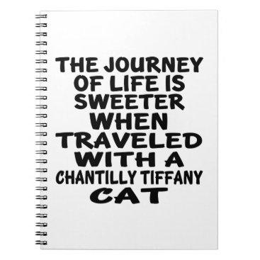 McTiffany Tiffany Aqua Traveled With Chantilly Tiffany Cat Spiral Notebook