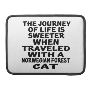 Traveled With Norwegian Forest Cat Cat MacBook Pro Sleeve