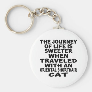 Traveled With Oriental Shorthair Cat Keychain