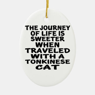 Traveled With Tonkinese Cat Ceramic Ornament