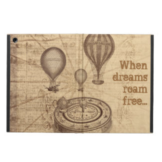 traveler vintage steampunk baloons and compass iPad air covers