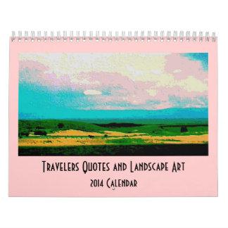 travelers landscape scenery calendar
