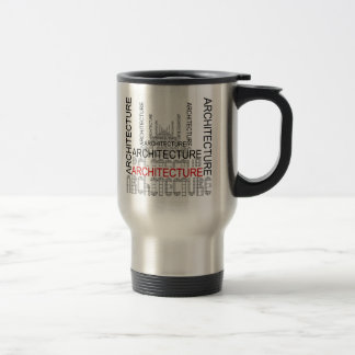 Traveler's Mug, ARCHITECTURE 15 Oz Stainless Steel Travel Mug