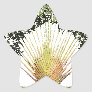 Travelers Palm Pointillized Star Stickers