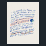 "Traveler&#39;s Quote Postcard<br><div class=""desc"">Words and Illustration by Morgan Harper Nichols</div>"