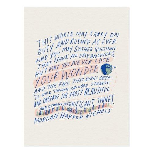 Travelers Quote Postcard