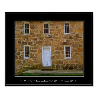 TRAVELER'S REST Old Stone Collection Print