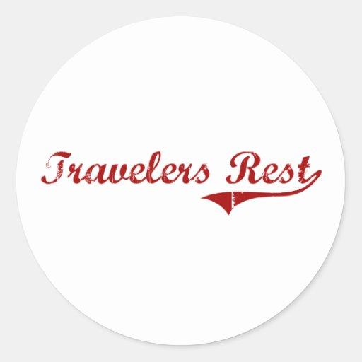 Travelers Rest South Carolina Classic Design Classic Round Sticker