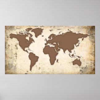 TRAVELER's WORLD MAP Poster
