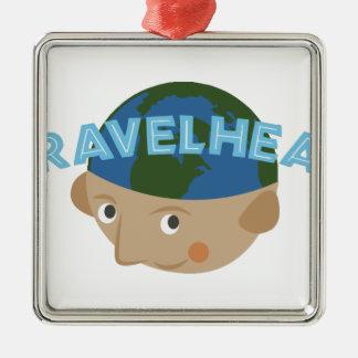 Travelhead Metal Ornament