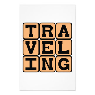 Traveling, A Hobby or a Basketball Violation Customized Stationery