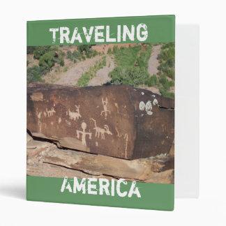 Traveling America 3 ring binder