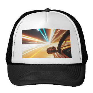 traveling at speed of light trucker hat