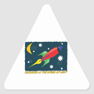 Traveling At The Speed Of Light Triangle Sticker