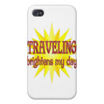 Traveling Brightens My Day iPhone 4 Cover