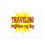 Traveling Brightens My Day Postcard