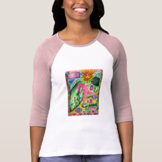 Traveling Bunny - Ladies 3/4 Sleeve Shirt
