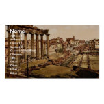 Traveling by reindeer, Archangel, Russia classic P Business Card Template