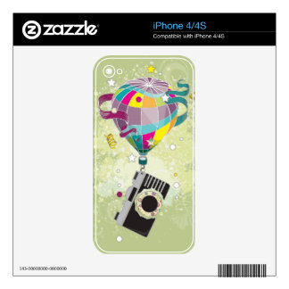 Traveling Camera Decal For iPhone 4S