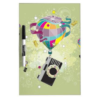 Traveling Camera Dry-Erase Whiteboard