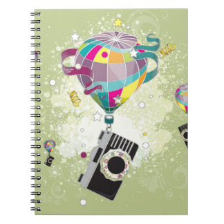 Traveling Camera Spiral Note Books