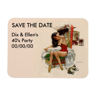 Traveling Circus Save the Date Magnet