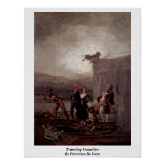 Traveling Comedian By Francisco De Goya Print