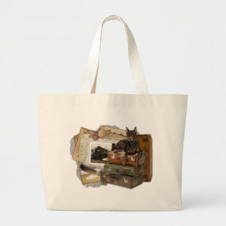 Traveling Doberman - Rocky Tote Bags
