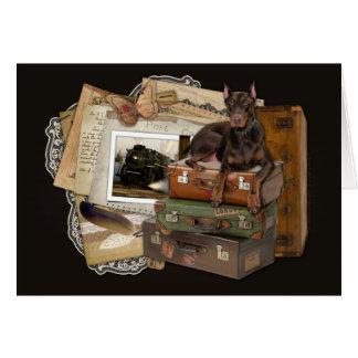 Traveling Doberman - Rocky Card